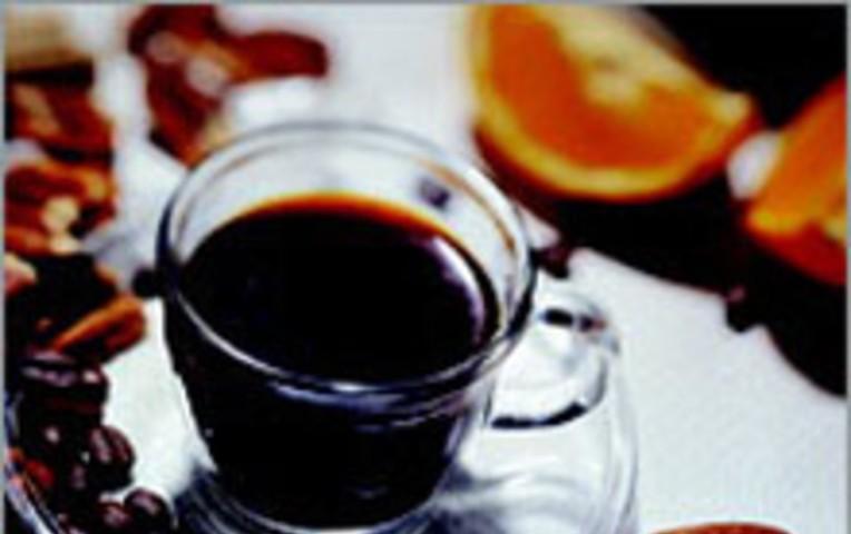 Апельсиновый кофе с орехом пекан