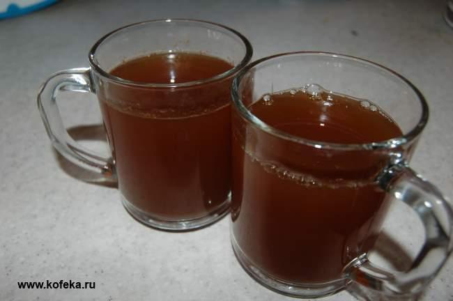 Рецепт Кофе с яблочным соком