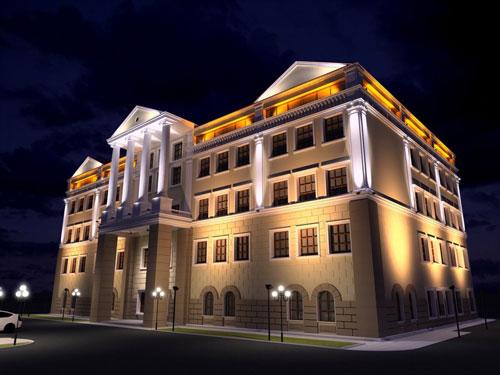 Архитектурная подсветка фасадов зданий