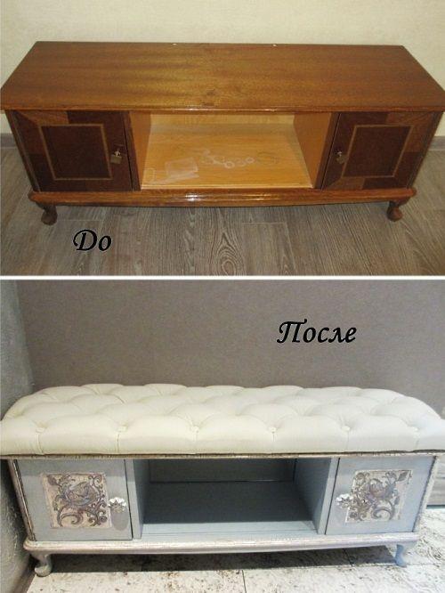 Как переделать журнальный столик своими руками: восстановление старой мебели