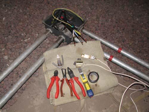 Монтаж электропроводки в стальных трубах