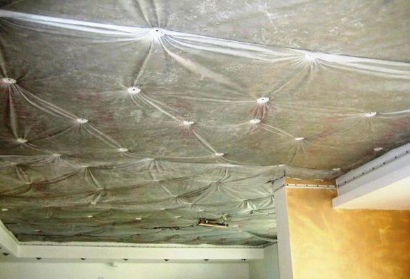 Шумоизоляция с натяжным потолком